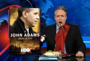 Stewart Imitates Republican Watching Obama's Crush GOP Talking Points